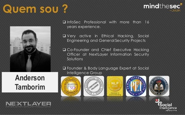 Mindthesec Forum 2015 - Hacking Não Verbal Slide 2