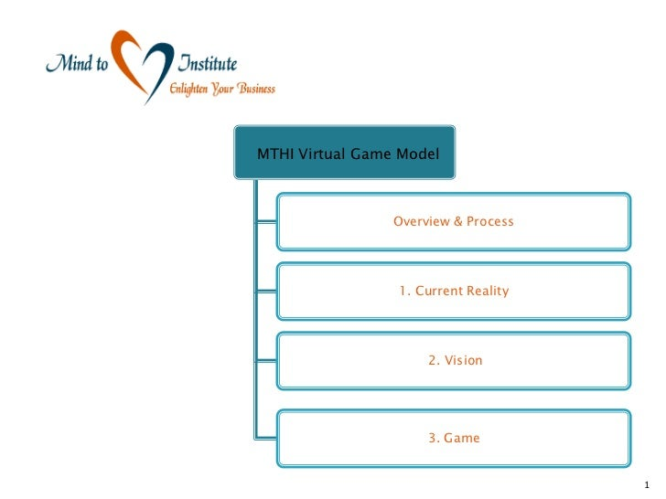 MTHI Virtual Game Model                 Overview & Process                 1. Current Reality                      2. Visi...