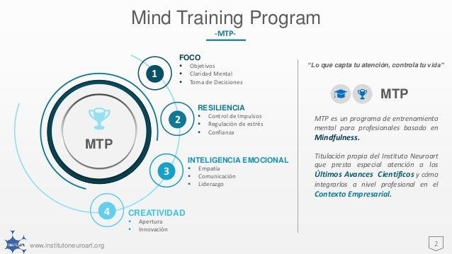 Mind Training Program -MTP- Slide 2