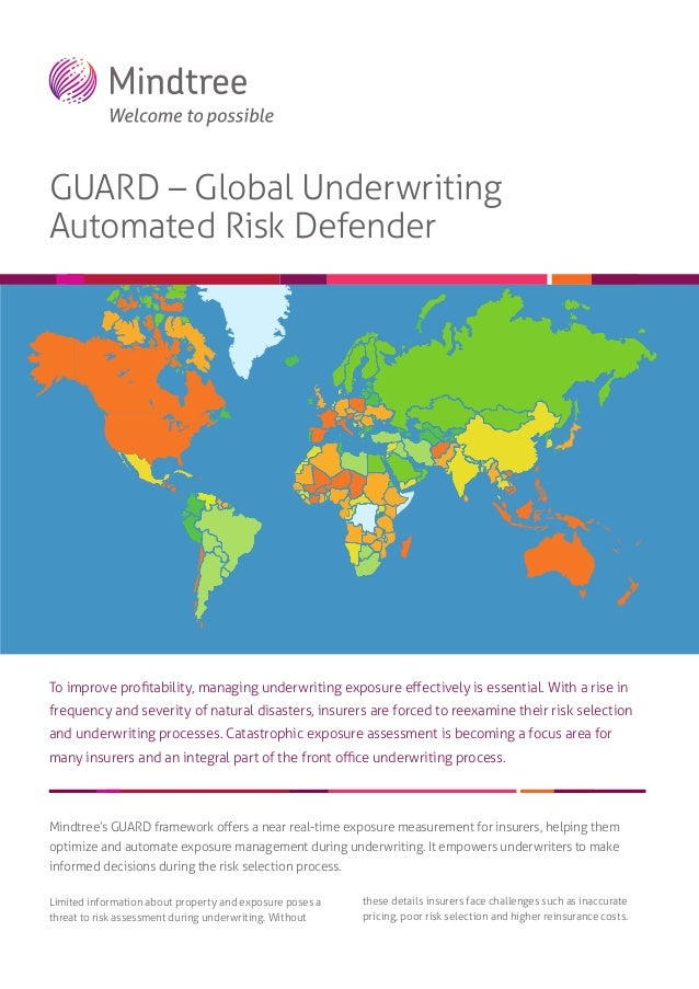 GUARD – Global Underwriting Automated Risk Defender  To improve profitability, managing underwriting exposure effectively is...