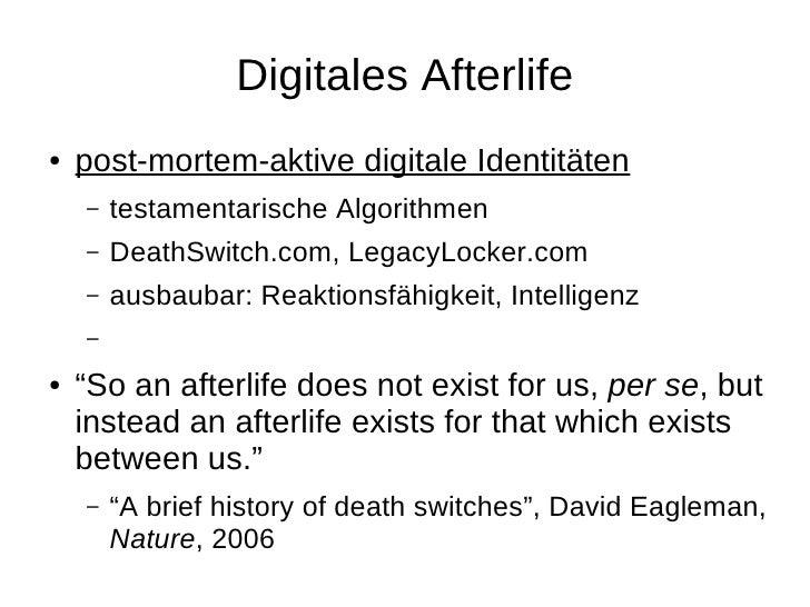 Weitere Ideen? ●   Twitter-Chatbots / andere Agenten ●   maschinenverarbeitbare     Persönlichkeitsquantifizierungssprache...