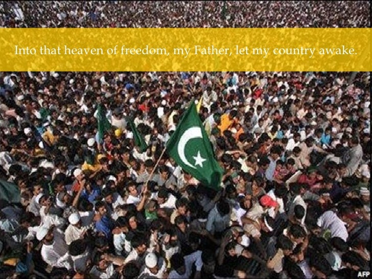 Into that heaven of freedom, my Father, let my country awake.