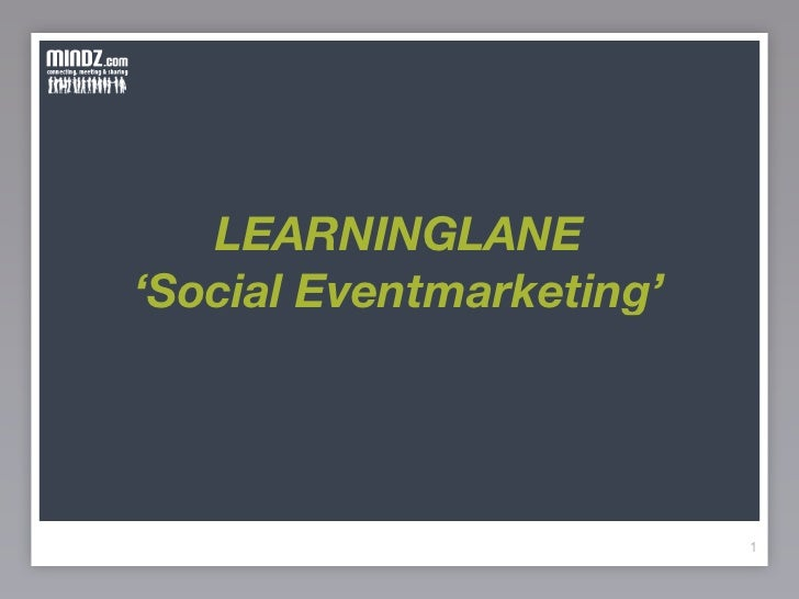 LEARNINGLANE 'Social Eventmarketing'                               1