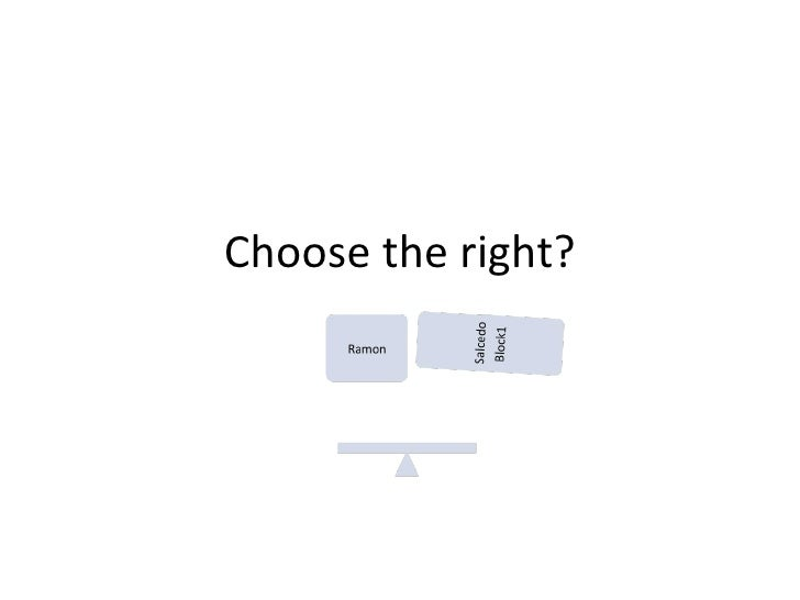 Choose the right?
