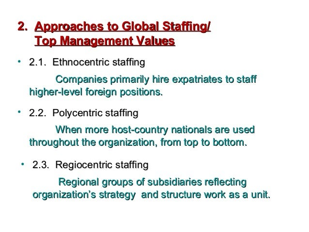 international staffing definition