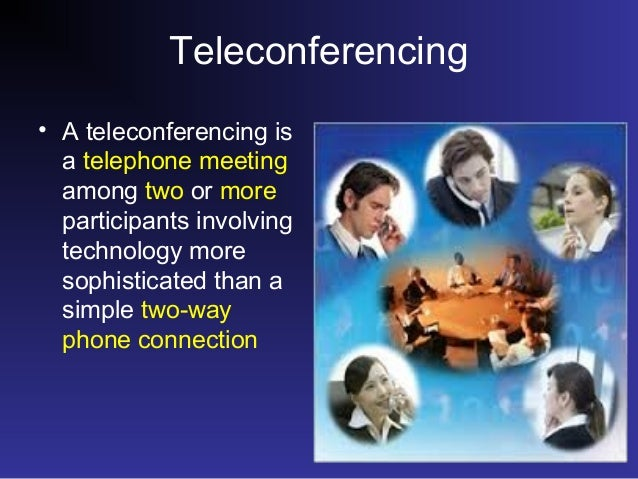 essay on teleconferencing Video conferencing connects people in real time through audio and video communication over internet who enables virtual meeting and collaboration on digital documents and shared presentations.