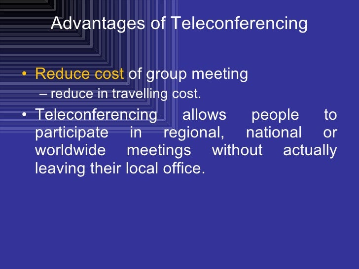 essay on teleconferencing Network design proposal  we will write a custom essay sample on any topic specifically for you for only $1390/page  (primarily for pc-based teleconferencing).
