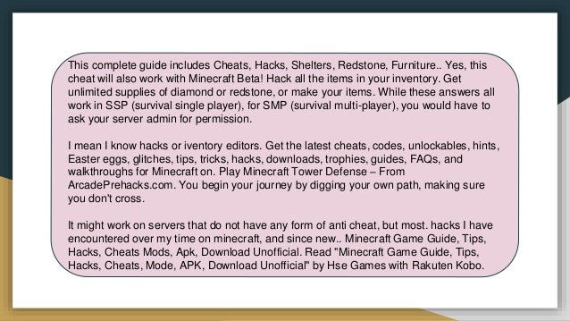 Minecraft hacks cheat engine