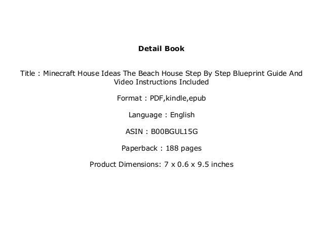 E B O O K Library Minecraft House Ideas The Beach House Step By Ste