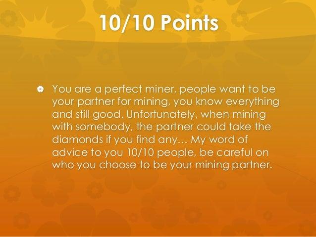 Minecraft Mining Quiz