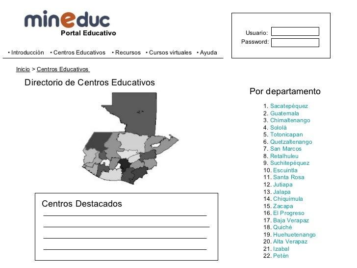 Mineduc.edu.gt Slide 3