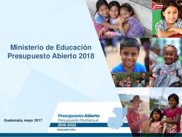 Presupuesto abierto 2018 ministerio de educaci n for Ministerio educacion exterior