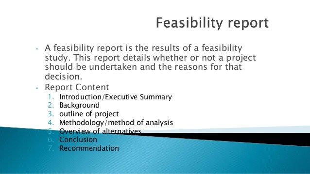 Feasibility study outline template
