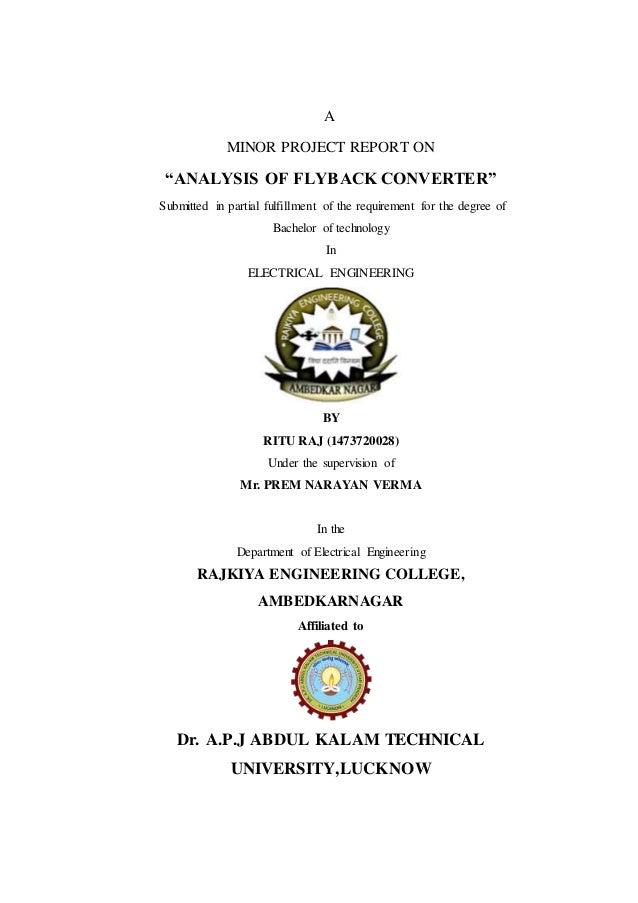 ANALYSIS OF FLYBACK CONVERTER
