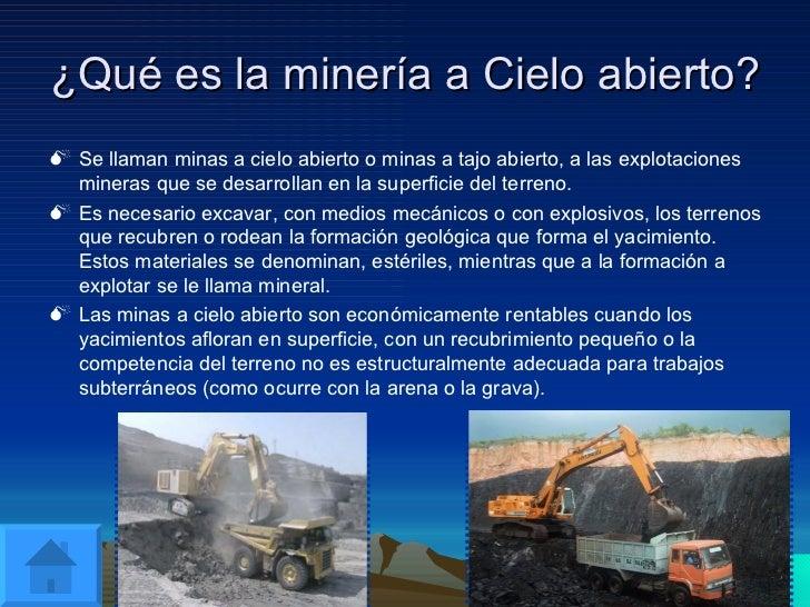 Minería A Cielo Abierto. Tomas Val Y Joaquin Gonzalez