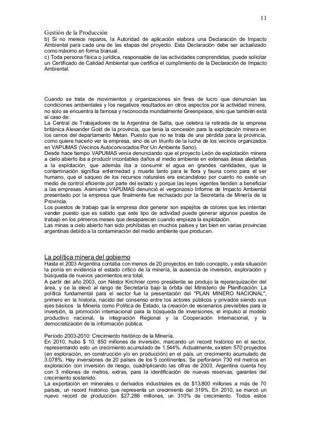 Minería a cielo abierto( MONOGRAFIA)argentina