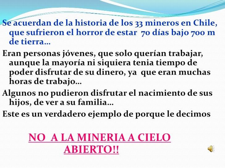 Se acuerdan de la historia de los 33 mineros en Chile, que sufrieron el horror de estar 70 días bajo 700 m de tierra…Eran ...