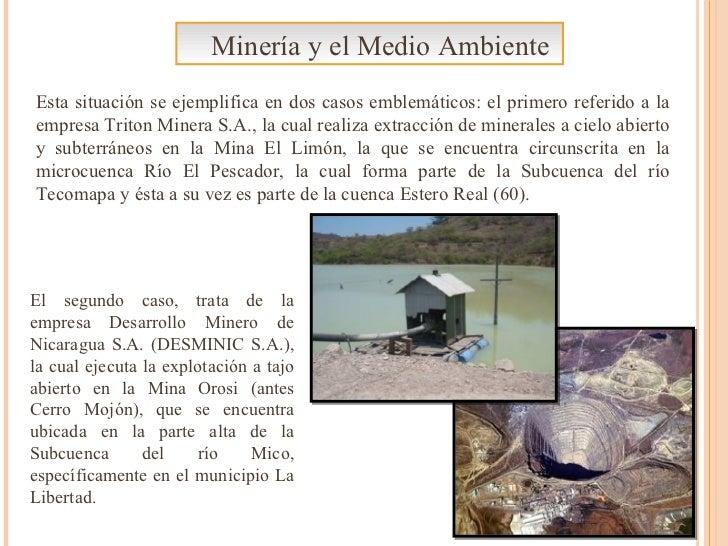 Minería y el Medio Ambiente Esta situación se ejemplifica en dos casos emblemáticos: el primero referido a la empresa Trit...