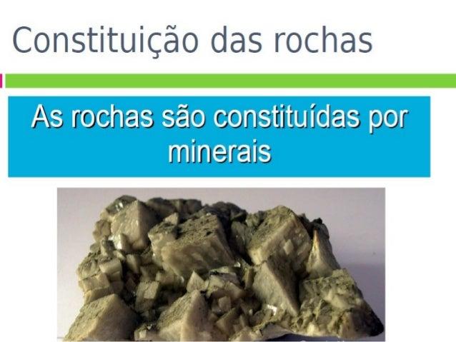 Os minerais são substâncias sólidas, naturais, inorgânicas, com estrutura cristalina e composição química mais ou menos de...
