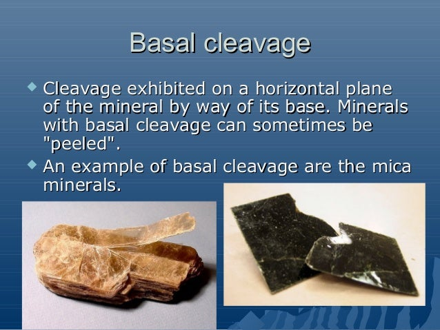 mineral cleavage and fracture