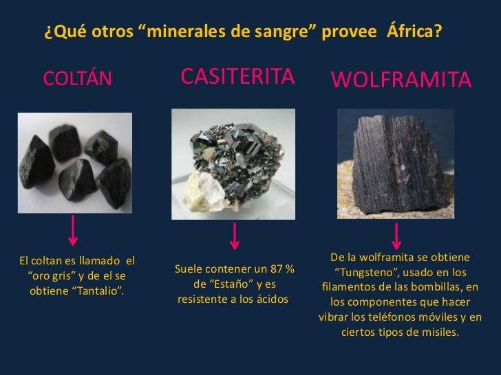 Resultado de imagen de minerales en centroafrica