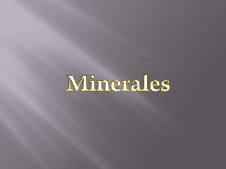 Minerales<br />