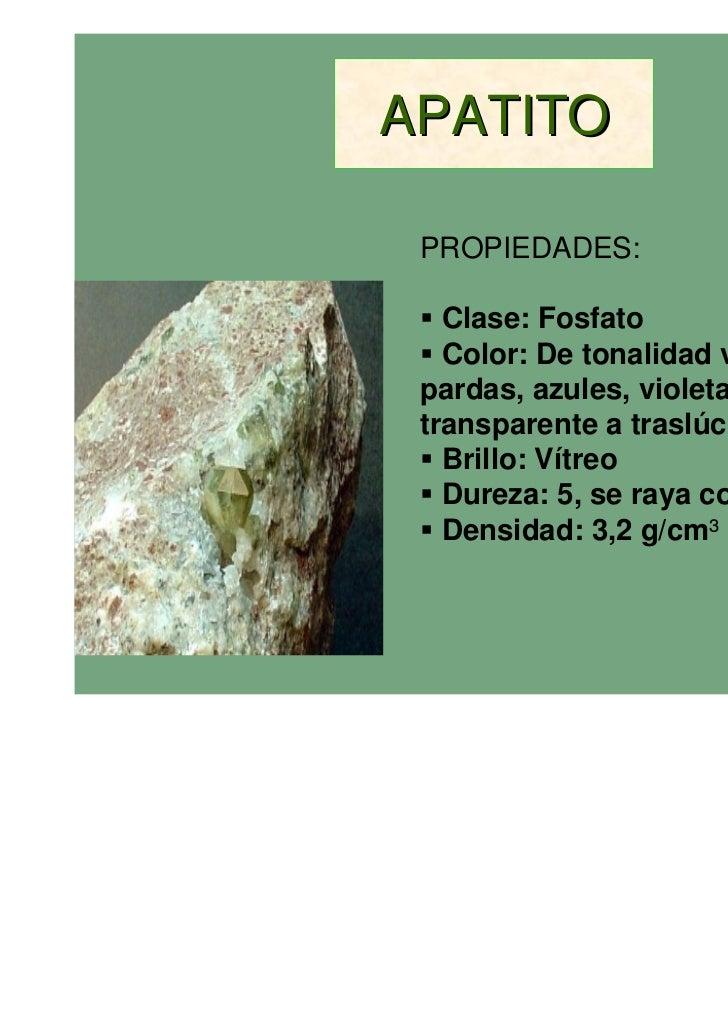 Minerales y rocas for Nombre de la roca
