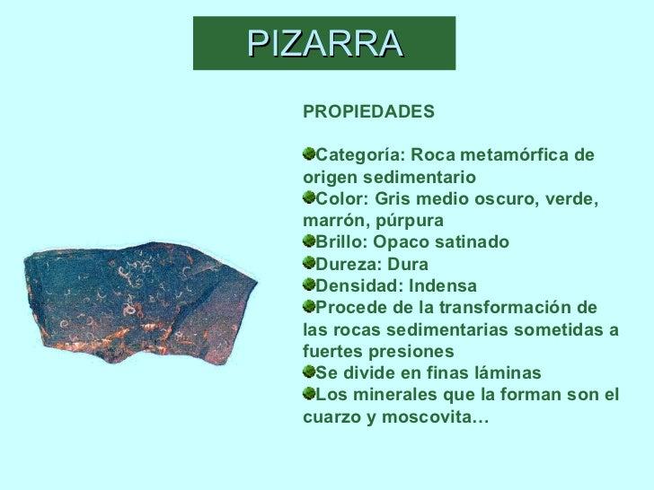 Minerales y rocas for Pizarra roca