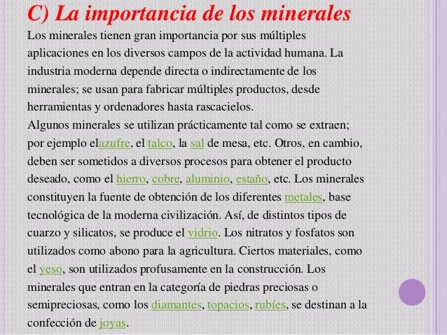 Minerales y rocas for Importancia de los suelos
