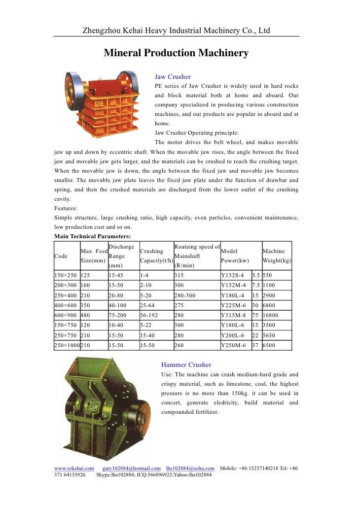 Zhengzhou Kehai Heavy Industrial Machinery Co., Ltd                     Mineral Production Machinery                      ...