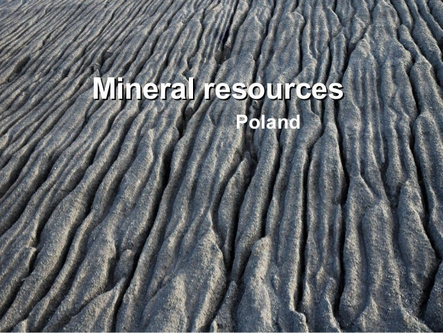 Mineral resources Poland
