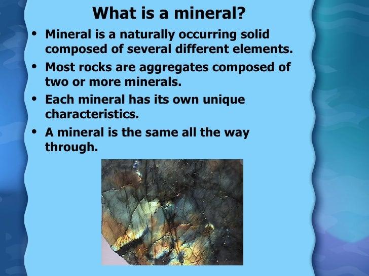 Minerals Slide 2