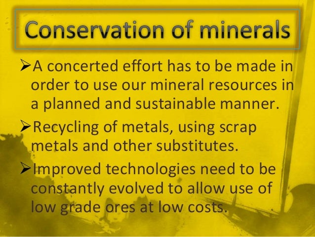 how do we use minerals in our everyday life