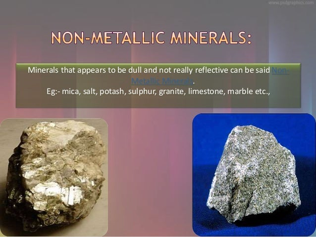 Minerals And Energy Resources