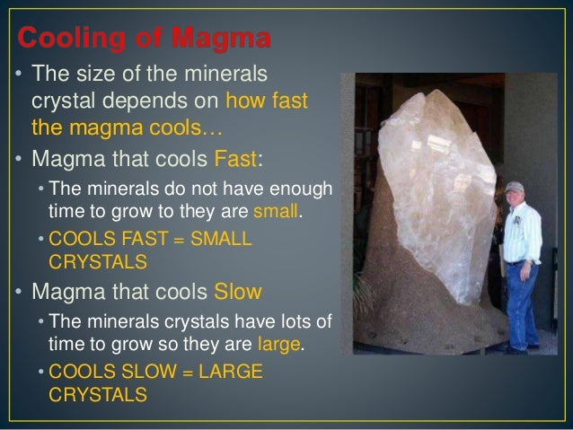 Minerals - How they form?