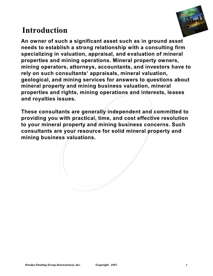Introduction An owner of such a significant asset such as in ground asset needs to establish a strong relationship with a ...
