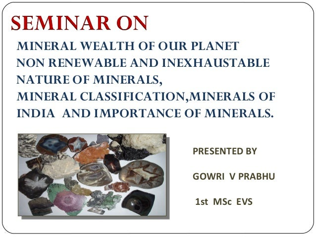 Minerals Resources India
