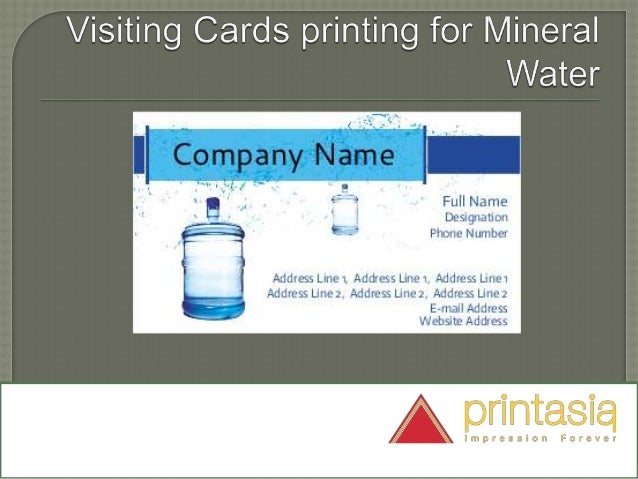 Mineral water visiting cards printasia impression forever business cards mineral water sample 2 colourmoves