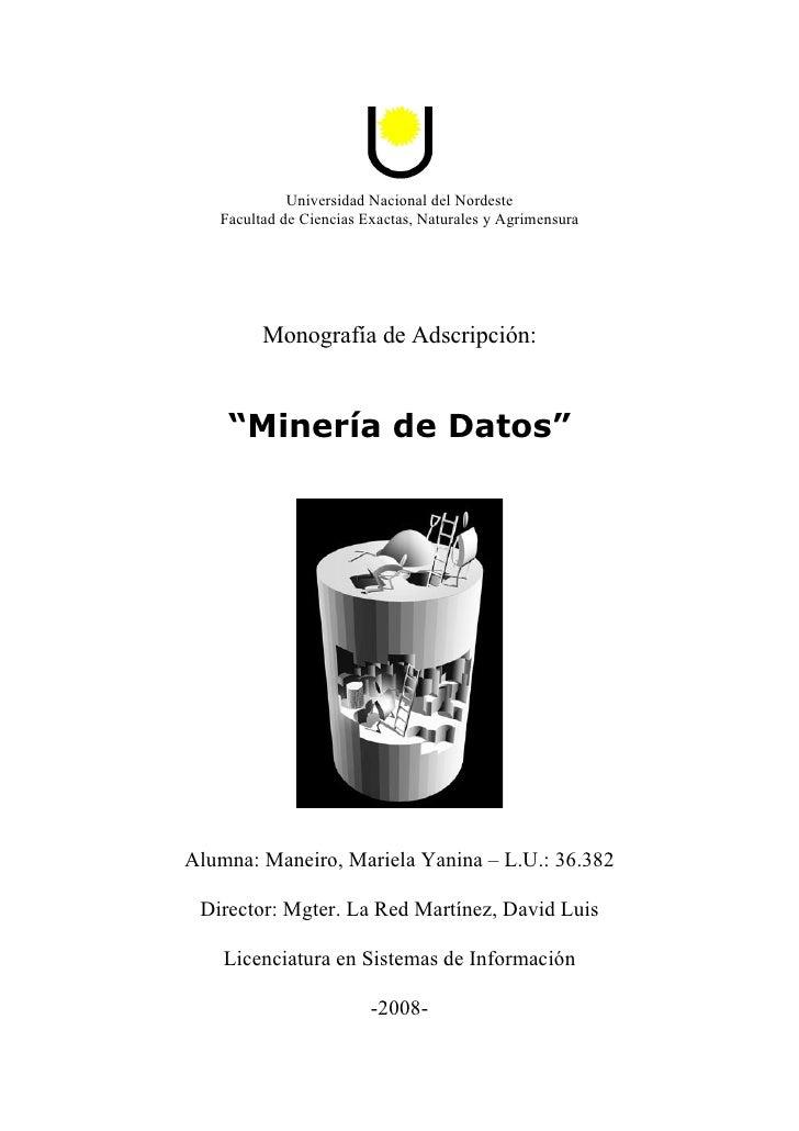 Universidad Nacional del Nordeste   Facultad de Ciencias Exactas, Naturales y Agrimensura         Monografía de Adscripció...