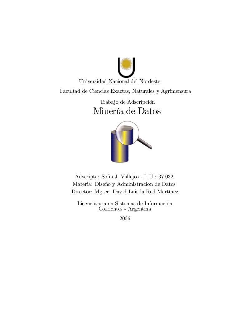 Universidad Nacional del NordesteFacultad de Ciencias Exactas, Naturales y Agrimensura                Trabajo de Adscripci...