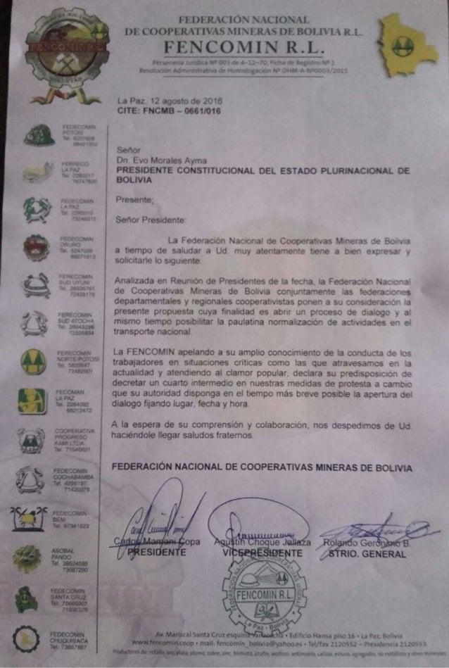 Cooperativistas mineros declaran cuarto intermedio para for Cuarto intermedio
