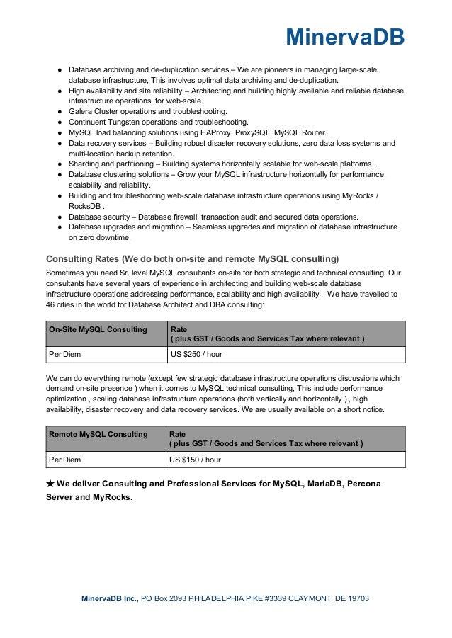 MinervaDB Consulting Slide 2