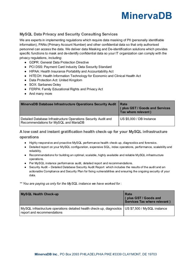 MinervaDB Consulting Slide 3