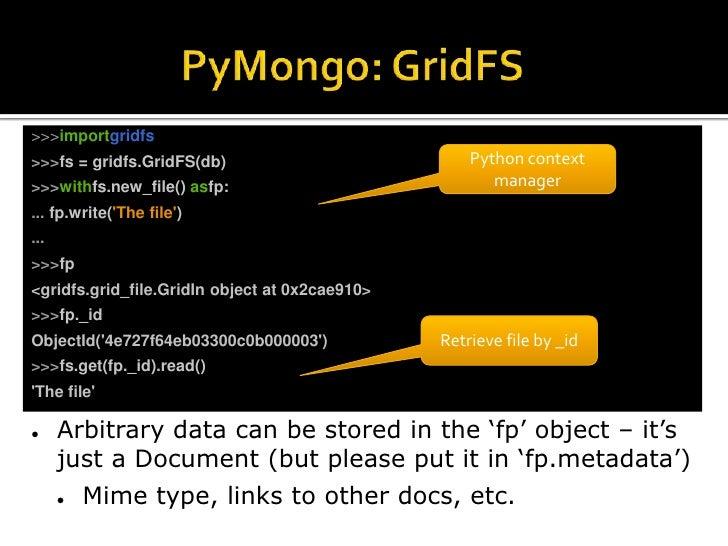 Rapid and Scalable Development with MongoDB, PyMongo, and Ming