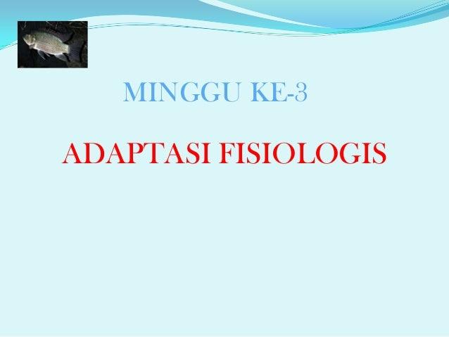 Adaptasi Fisiologis Hewan Air