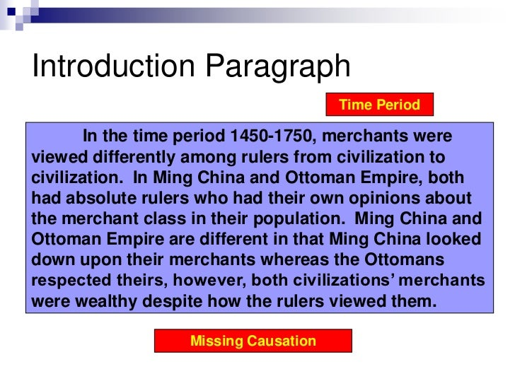 Ming Ottoman Comparative Sample Essay