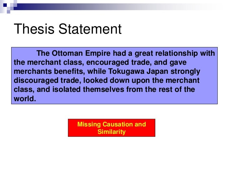 ming ottoman comparative sample essay thesis statement