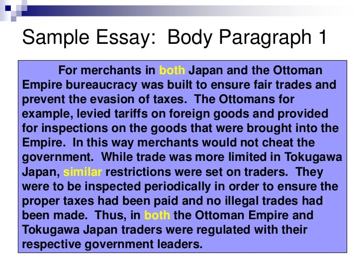 ming ott comparative sample essay 8 sample essay