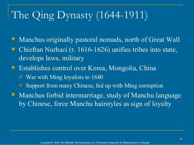 10 the qing dynasty
