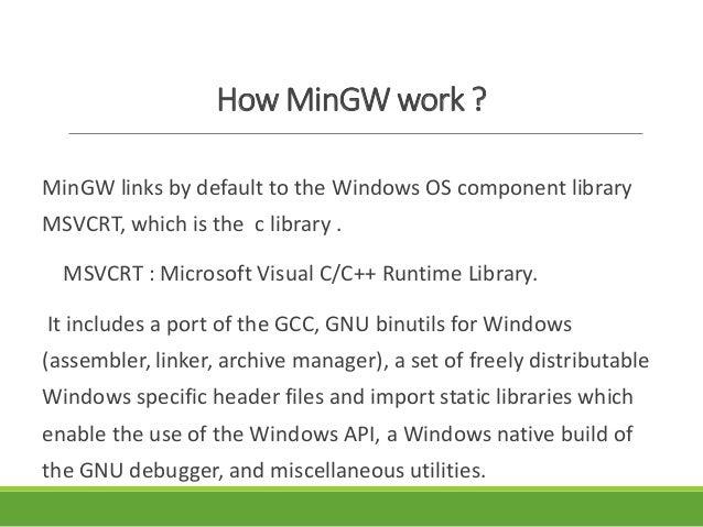 MinGw Compiler
